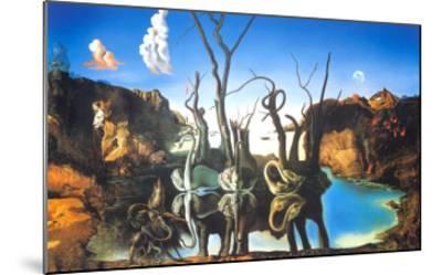Reflections of Elephants-Salvador Dal?-Mounted Art Print