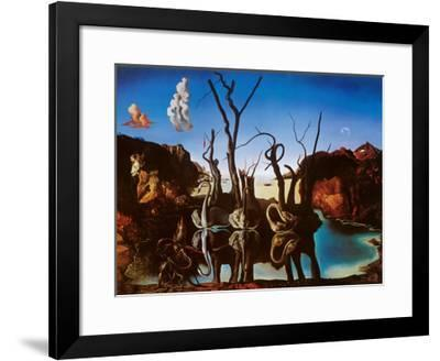 Swans Reflecting Elephants, c.1937-Salvador Dal?-Framed Art Print
