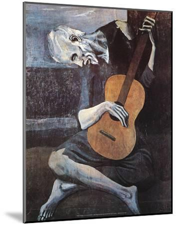 The Old Guitarist, c.1903-Pablo Picasso-Mounted Art Print