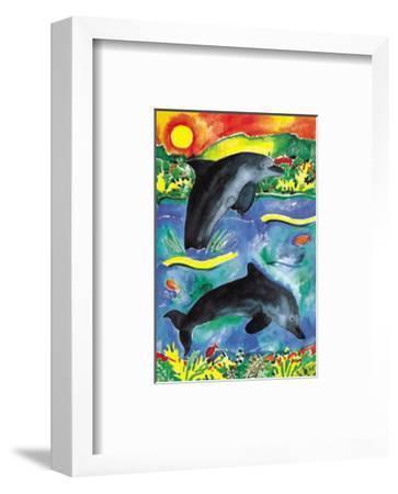 Jump for Joy II-Lisa V^ Keaney-Framed Art Print