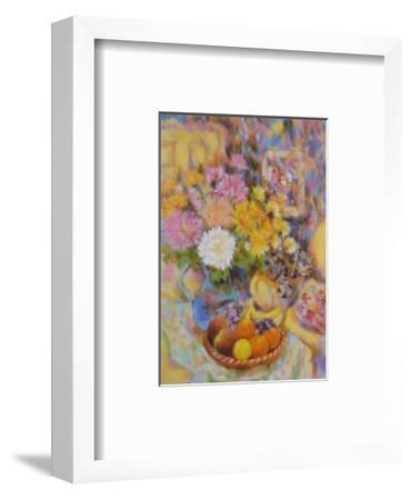 Tabby on Armchair-Fay Powell-Framed Art Print