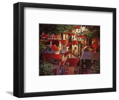 Rooftops II-Michael O'Toole-Framed Art Print