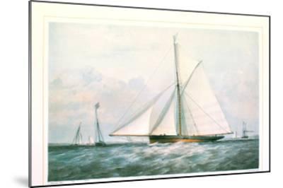 Arrow Yacht--Mounted Art Print