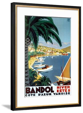 Bandol Hiver Ete-Roger Broders-Framed Art Print
