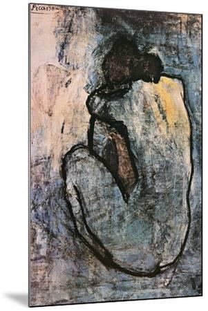 Blue Nude, c.1902-Pablo Picasso-Mounted Poster