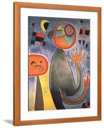 Animal Composition-Joan Mir?-Framed Art Print