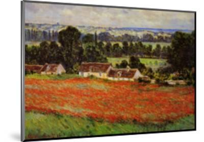 Field of Poppies-Claude Monet-Mounted Art Print