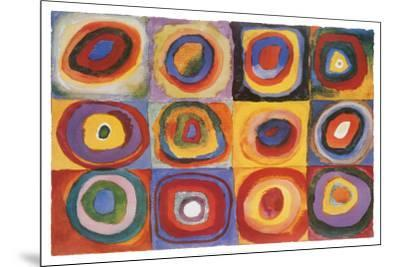 Farbstudie Quadrate, c.1913-Wassily Kandinsky-Mounted Poster