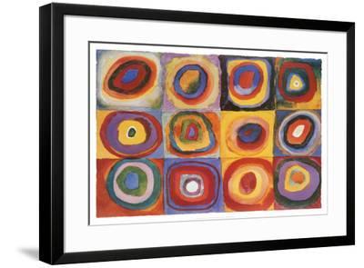 Farbstudie Quadrate, c.1913-Wassily Kandinsky-Framed Poster