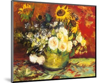 Vase of Flowers-Vincent van Gogh-Mounted Art Print