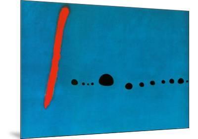 Bleu II-Joan Mir?-Mounted Art Print