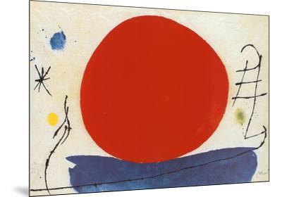 The Red Sun-Joan Miro-Mounted Art Print