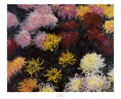 Chrysanthemum, 1897-Claude Monet-Framed Art Print