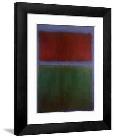 Earth and Green-Mark Rothko-Framed Art Print