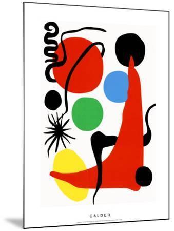Green Ball, c.1971-Alexander Calder-Mounted Serigraph