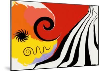 Pinwheel and Flow, c.1958-Alexander Calder-Mounted Serigraph