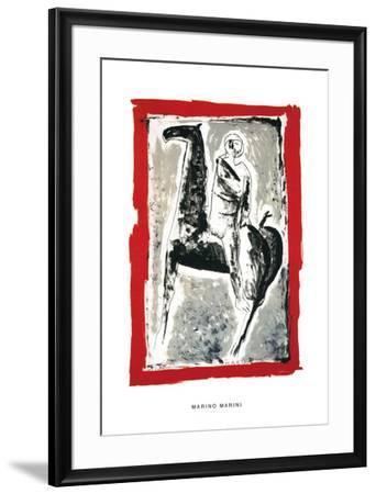 Cavaliere, c.1955-Marino Marini-Framed Serigraph