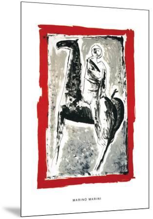 Cavaliere, c.1955-Marino Marini-Mounted Serigraph