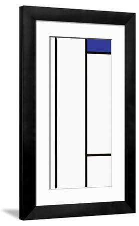 Composition in White and Blue-Piet Mondrian-Framed Serigraph