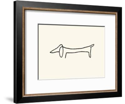 The Dog-Pablo Picasso-Framed Serigraph