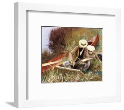 Out of Doors Study-John Singer Sargent-Framed Art Print