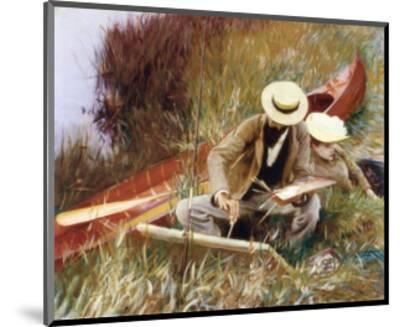 Out of Doors Study-John Singer Sargent-Mounted Art Print