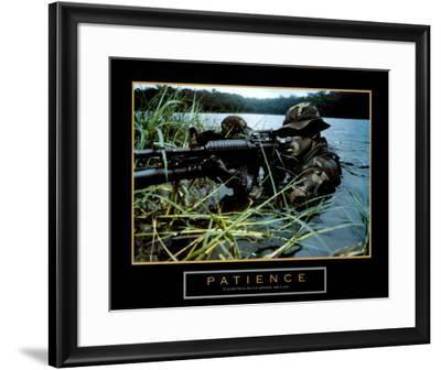 Patience, Soldier--Framed Art Print