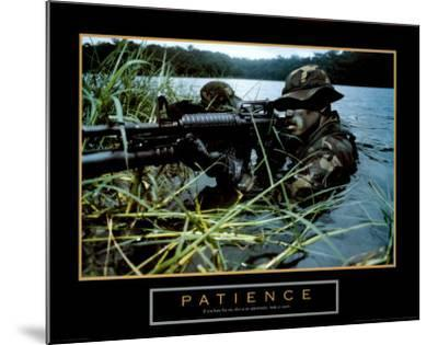 Patience, Soldier--Mounted Art Print