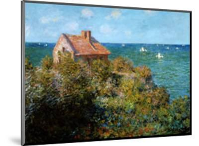Fisherman's Cottage on the Cliffs at Var-Claude Monet-Mounted Art Print