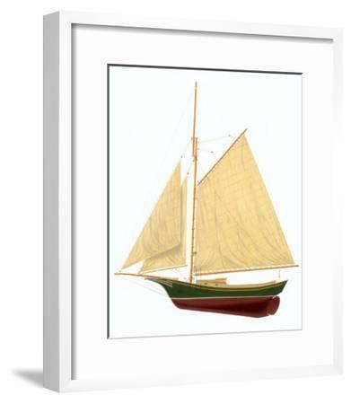 Friendship Sloop-Robert Duff-Framed Art Print