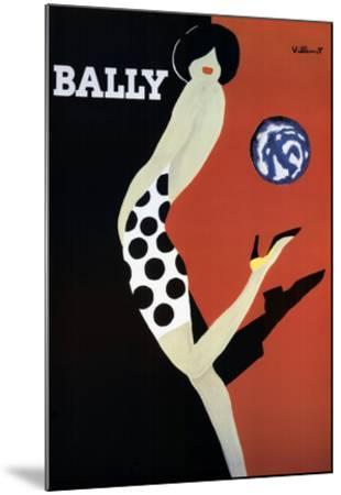 Bally-Bernard Villemot-Mounted Art Print