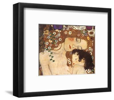 Mother and Child (detail from The Three Ages of Woman), c.1905-Gustav Klimt-Framed Art Print