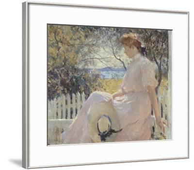Eleanor 1907-Frank Weston Benson-Framed Art Print