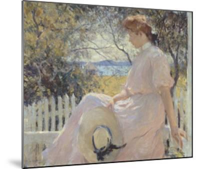 Eleanor 1907-Frank Weston Benson-Mounted Art Print