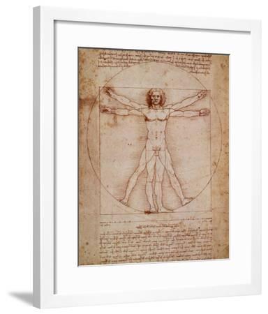 Vitruvian Man, c.1492-Leonardo da Vinci-Framed Art Print