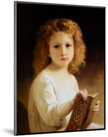 Story Book-William Adolphe Bouguereau-Mounted Art Print