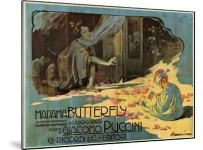 Puccini, Madama Butterfly-Adolfo Hohenstein-Mounted Art Print