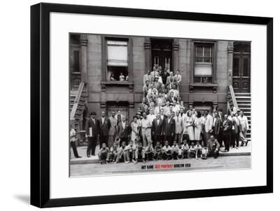 Jazz Portrait - Harlem, New York, 1958-Art Kane-Framed Art Print