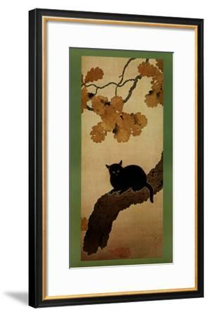Black Cat-Shunso Hishida-Framed Art Print