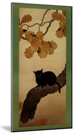 Black Cat-Shunso Hishida-Mounted Art Print