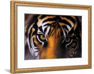 Eyes of the Goddess: Sumatran Tigress-Charles Alexander-Framed Art Print