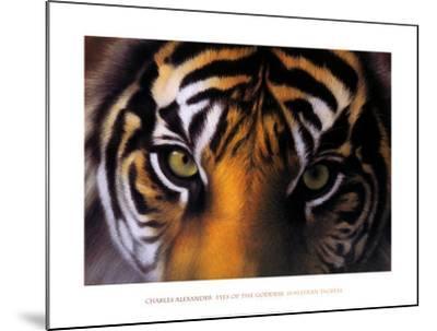 Eyes of the Goddess: Sumatran Tigress-Charles Alexander-Mounted Art Print