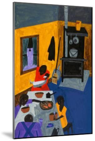This Is a Family Living in Harlem, 1943-Jacob Lawrence-Mounted Art Print