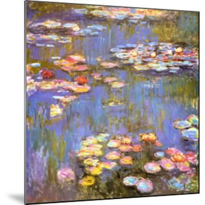 Water Lilies, 1916-Claude Monet-Mounted Art Print
