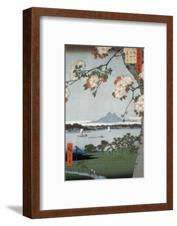 Suigin Grove and Masaki-Ando Hiroshige-Framed Art Print