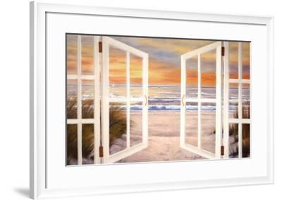 Sunset Beach-Diane Romanello-Framed Art Print