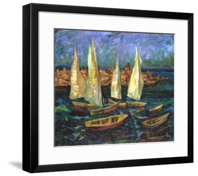 Sails in the Bay-Ula Sukhovetskaya-Framed Giclee Print
