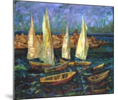 Sails in the Bay-Ula Sukhovetskaya-Mounted Giclee Print