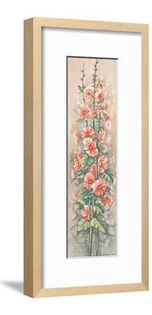Hollyhocks II-Peggy Thatch Sibley-Framed Art Print
