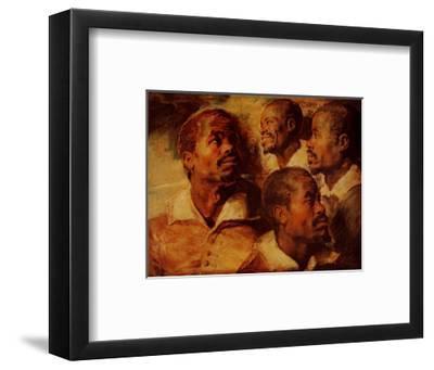 Four Negro Heads-Peter Paul Rubens-Framed Art Print